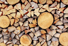 stock image of  stack of wood