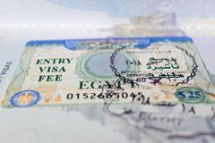 stock image of  the visa to egypt