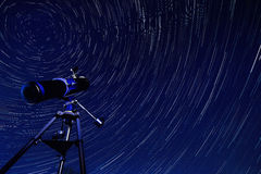 stock image of  space - star trails - astronomy