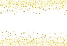 stock image of  stars scatter glitter confetti gold frame banner galaxy celebration party premuim product concept abstract background texture