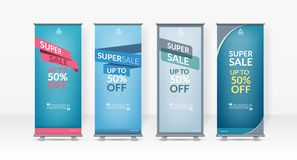 stock image of  business roll up design template, x-stand, vertical flag-banner design layout, standee display promoting