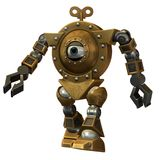 stock image of  steampunk robot