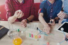 stock image of  stem education. physical experiments at school