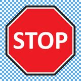 stock image of  stop sign vector