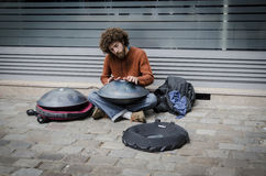 stock image of  street entertainer