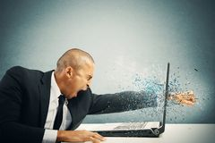 stock image of  stress and frustration