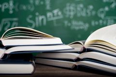 stock image of  studying books and learning materials.