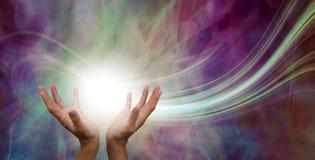 stock image of  stunning healing energy flow phenomenon