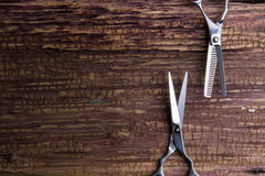 stock image of  stylish professional barber and salon, hair scissors, haircut ac