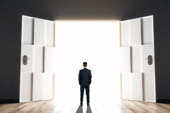 stock image of  success and exit concept