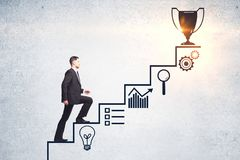 stock image of  success and leadership concept