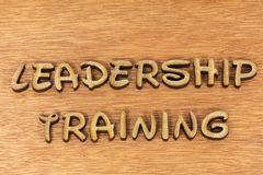 stock image of  leadership training message words sign wood