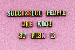 stock image of  success people plan prepare ready letterpress