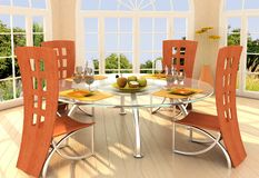 stock image of  sunny room