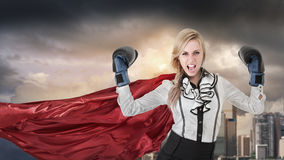 stock image of  super woman