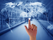 stock image of  supply chain management concept