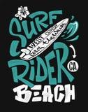 stock image of  surf rider print. t-shirt graphic design