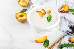stock image of  sweet creamy peach soup
