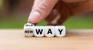 stock image of  symbol for going a new way.
