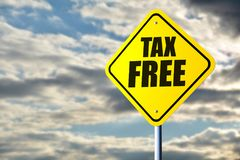 stock image of  tax free