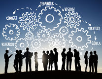 stock image of  team teamwork goals strategy vision business support concept
