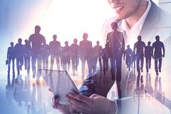 stock image of  technology, meeting and communication concept