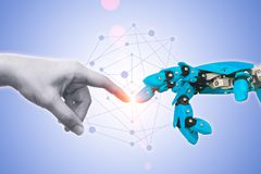 stock image of  technology of robot or robotic engineering