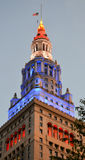 stock image of  terminal tower public square downtown cleveland ohio