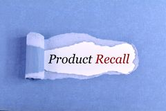 stock image of  the text product recall