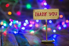 stock image of  thank you on small sign board