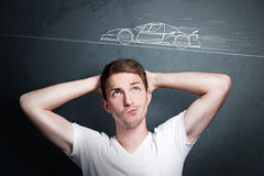 stock image of  think about a car
