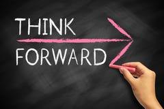 stock image of  think forward