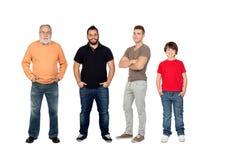 stock image of  three generations of men