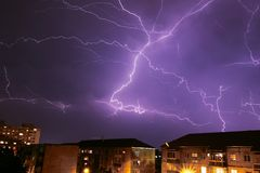 stock image of  thunder storm
