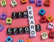 stock image of  time effort reward