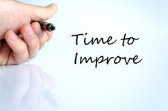 stock image of  time to improve concept