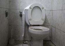 stock image of  toilet dirty unhygienic