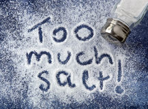 stock image of  too much salt