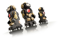 stock image of  toy robots