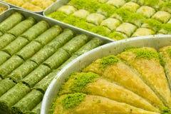 stock image of  traditional turkish desserts; baklava