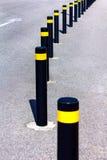 stock image of  traffic bollards