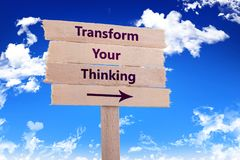 stock image of  transform your thinking
