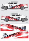 stock image of  truck and vehicle decal  graphic design