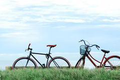 stock image of  two bicycles