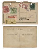 stock image of  two vintage antique postcards