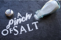 stock image of  a pinch of salt