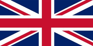 stock image of  uk. union jack. flag of united kingdom. official colors. correct proportion. vector