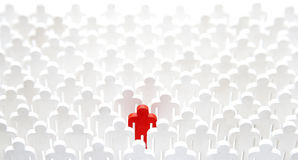 stock image of  unique person in the crowd