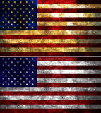 stock image of  united states of america textured flag