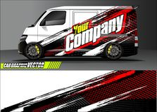 stock image of  van livery graphic vector. abstract grunge background design for vehicle vinyl wrap and car branding